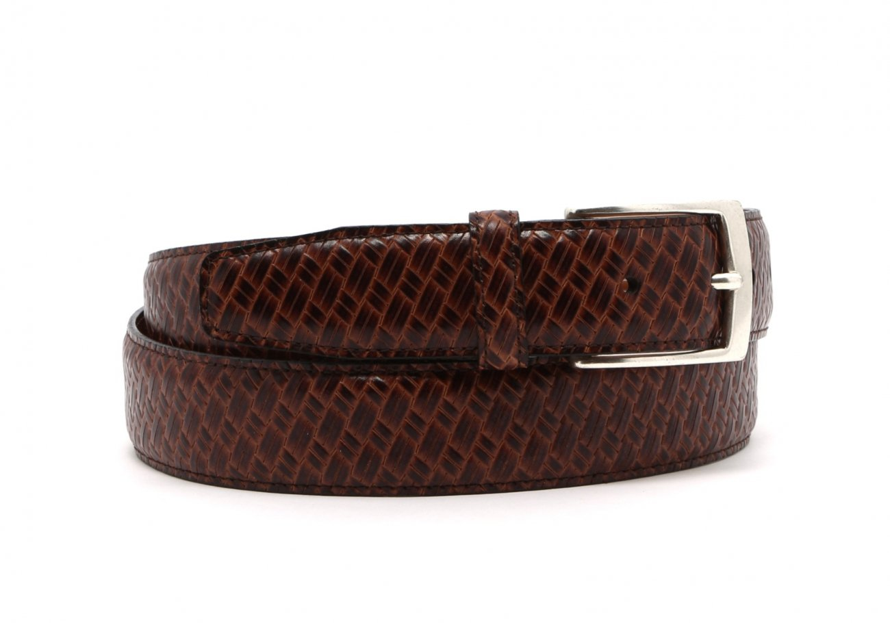 Brown Trezlis Basket Leather Belt2 4 2
