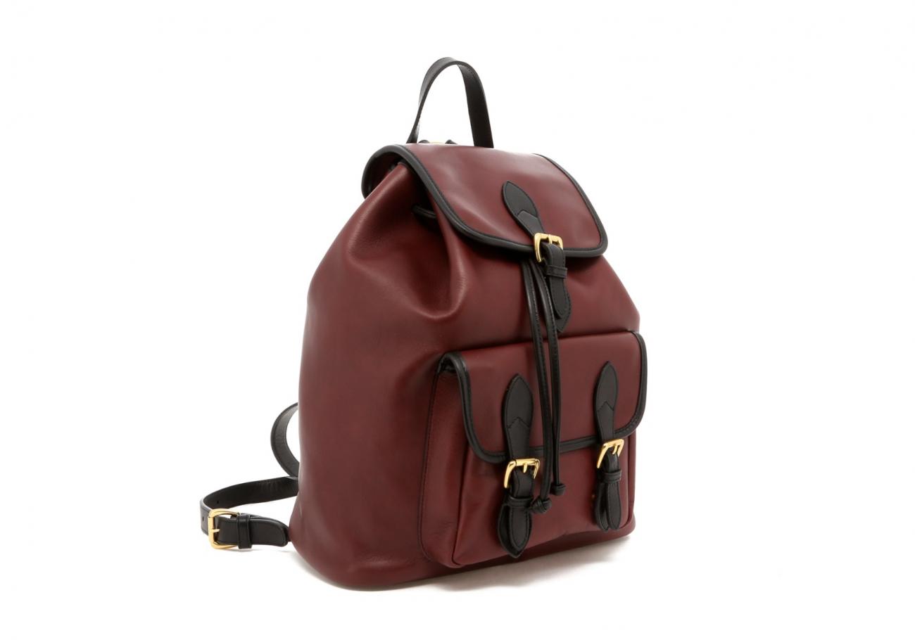 Burgundy Classic Backpack C