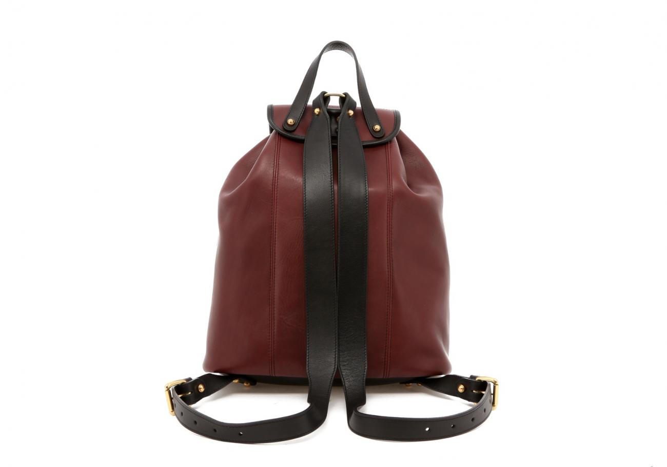 Burgundy Classic Backpack E