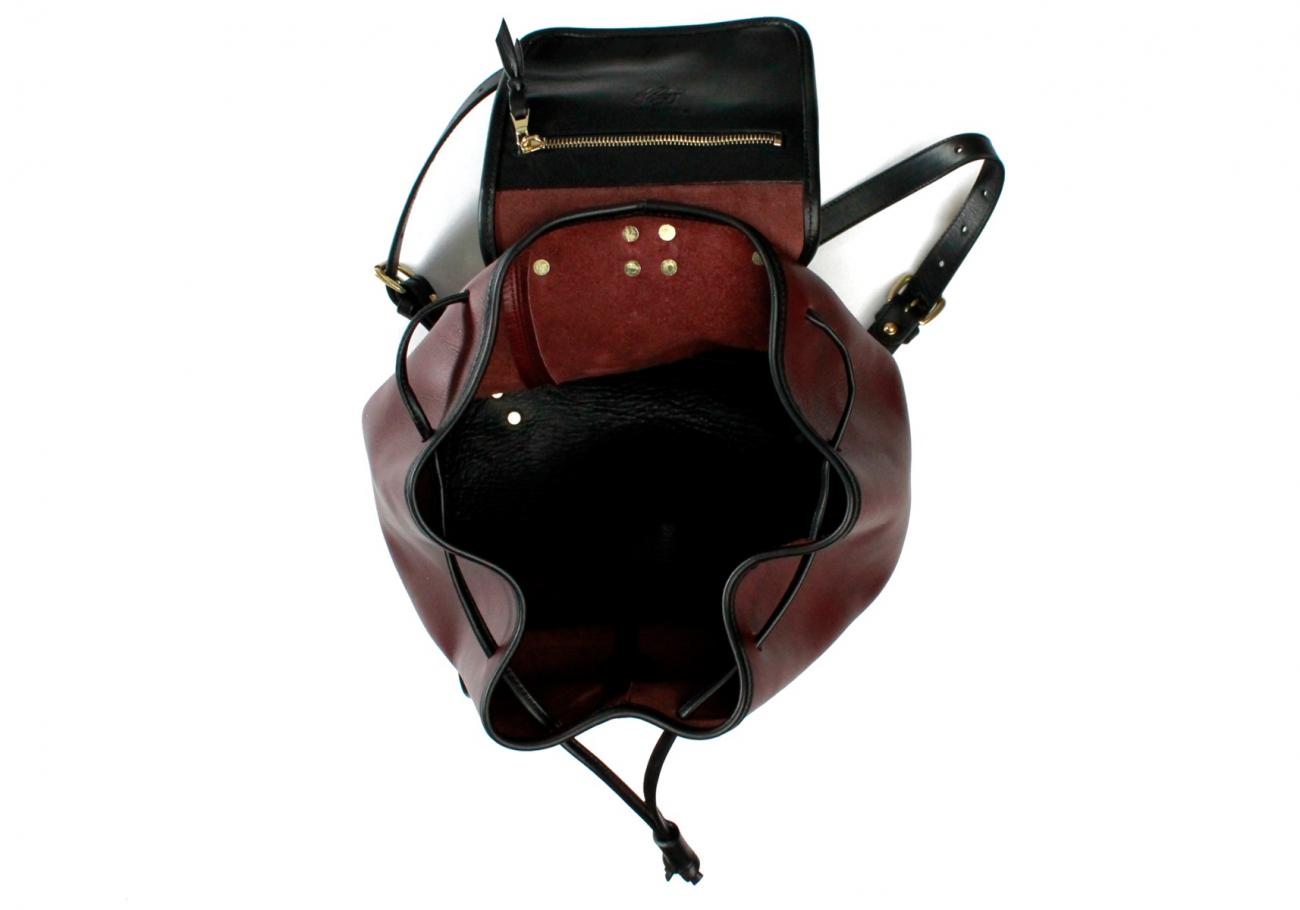 Burgundy Classic Backpack F