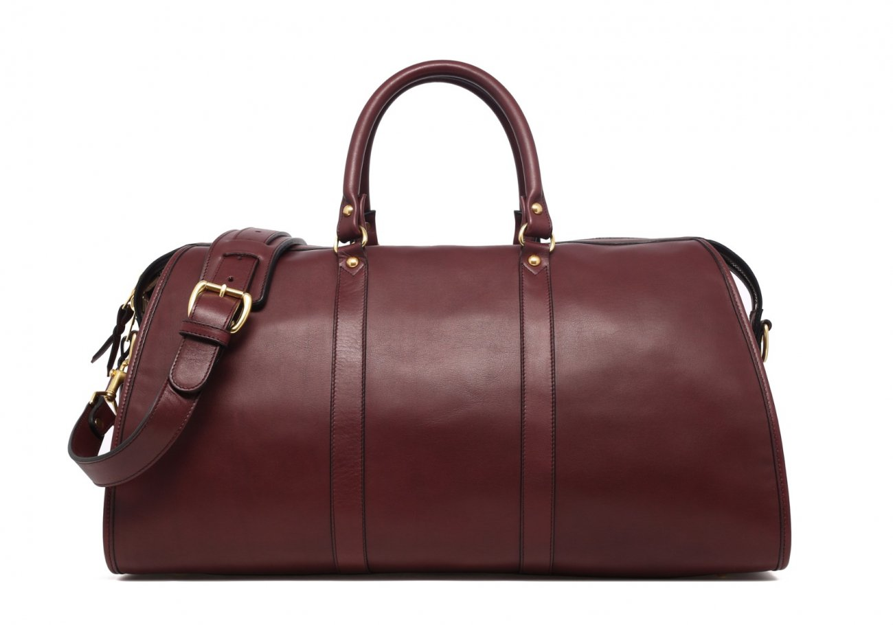 Burgundy Leather Duffle Bag Hampton Frank Clegg 1