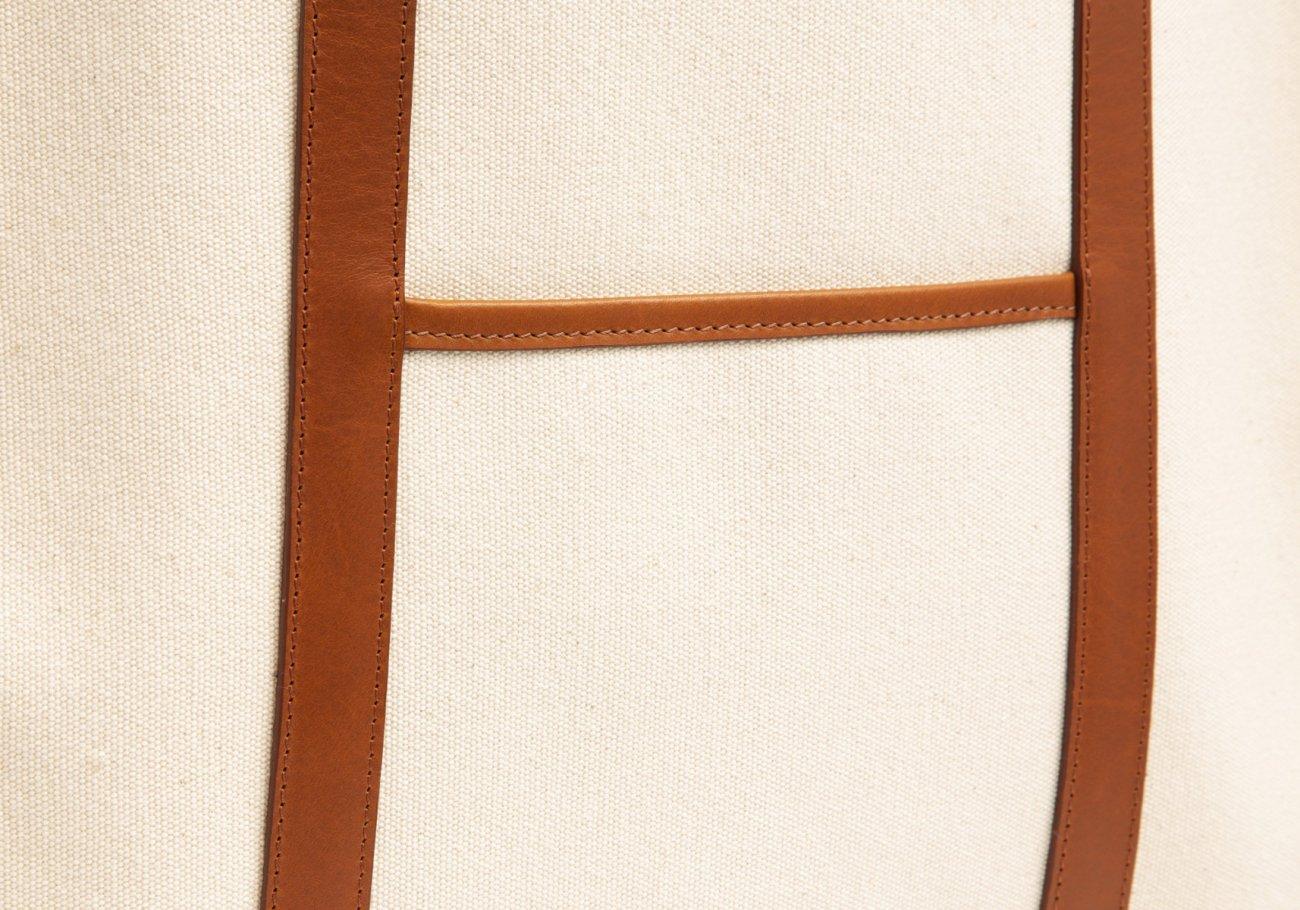 Canvas Market Tote Cream Frank Clegg 4 1