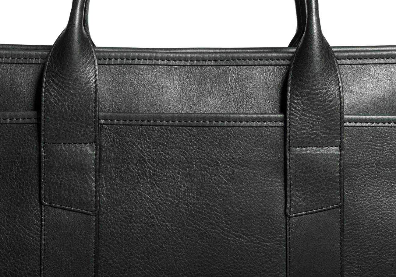 Cause Leather Zip Top Briefcase Green9