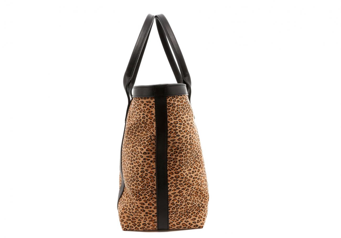 Cheetah Microfiber Lg Tote D