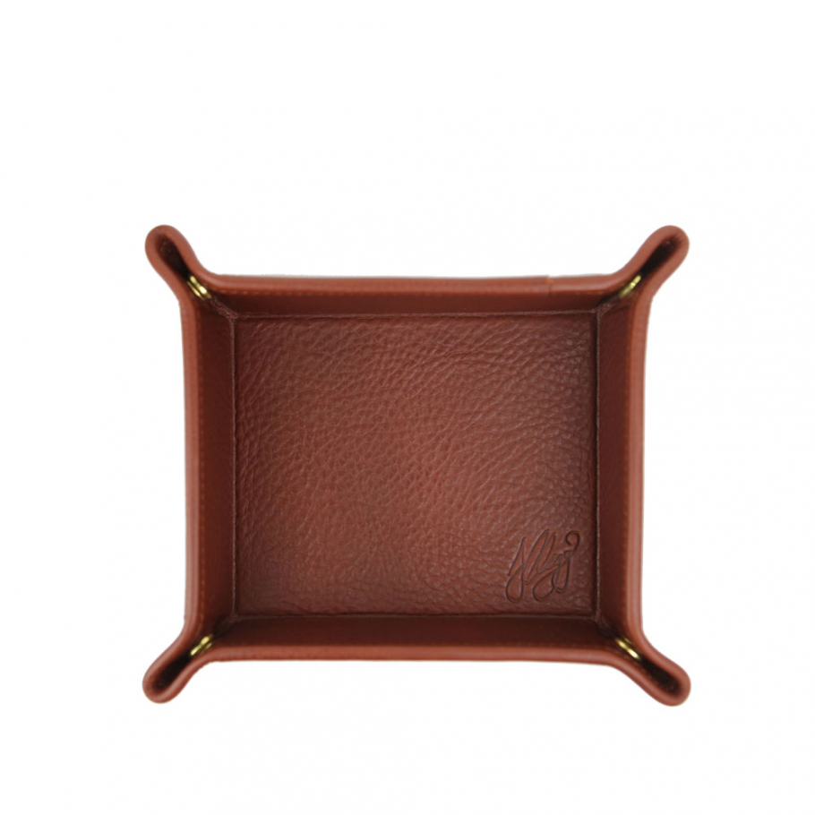 Chesnut Leather Valet Key Tray Frank Clegg Made In Usa 1 Raw 2