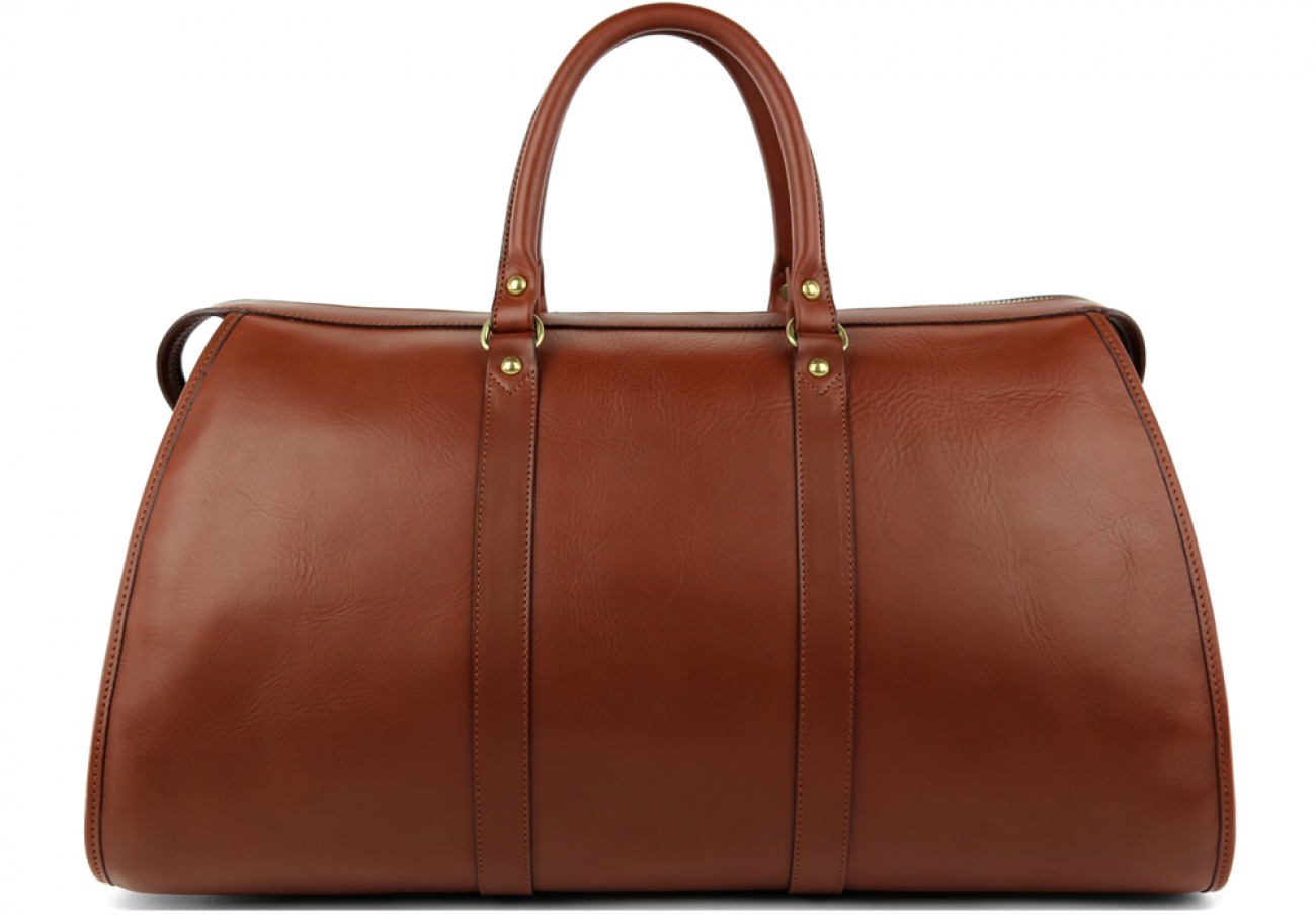 Chestnut Leather Zipper Duffle 2
