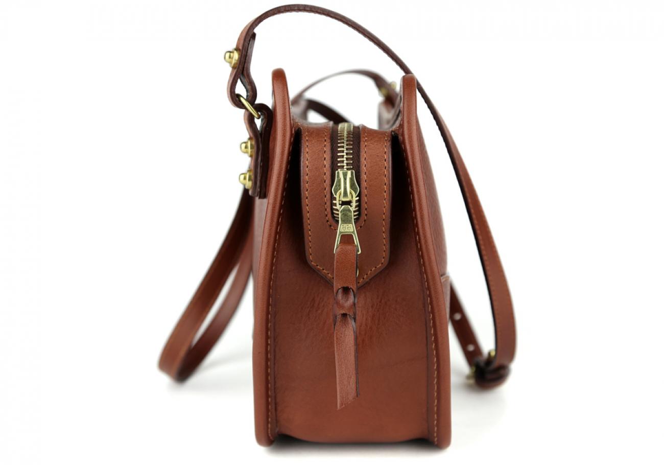 Chestnut Lilly Shoulder Bag Frank Clegg Made In Usa 3 1