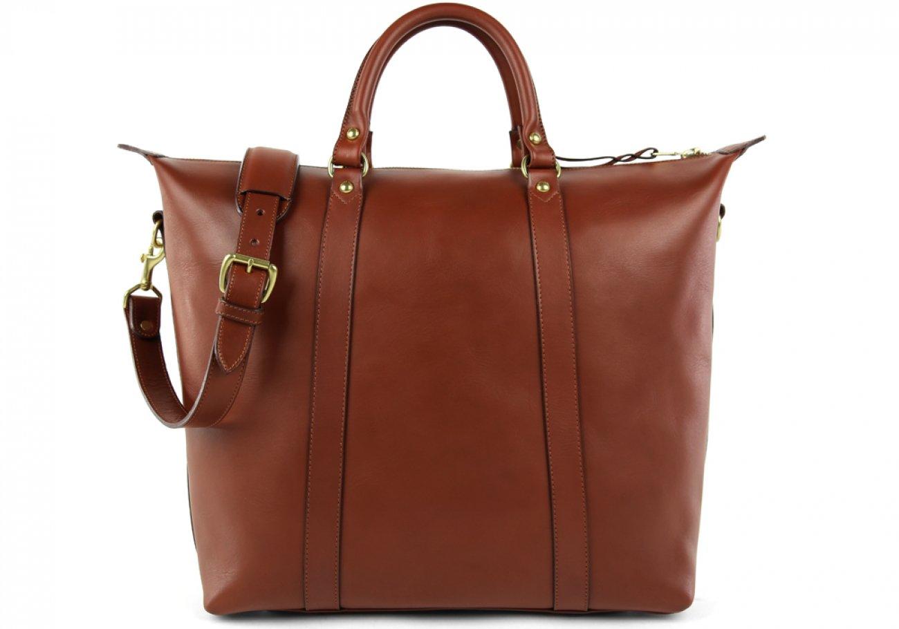 Chestnut Zipper Tote Bag 1 1