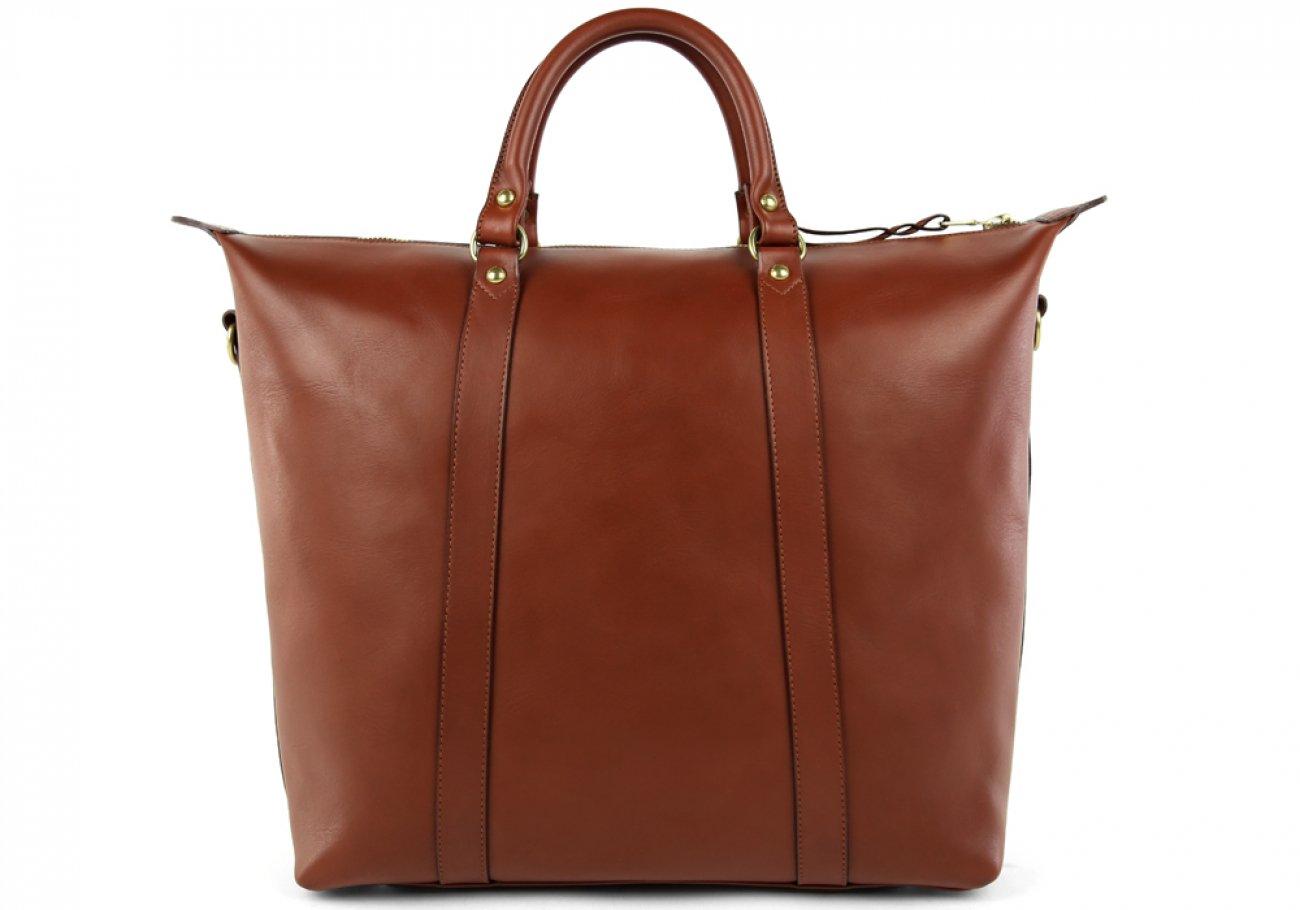 Chestnut Zipper Tote Bag 2 1