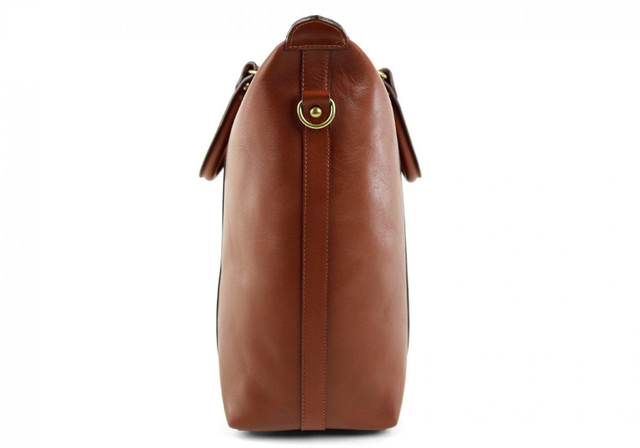 Chestnut Zipper Tote Bag 5 1