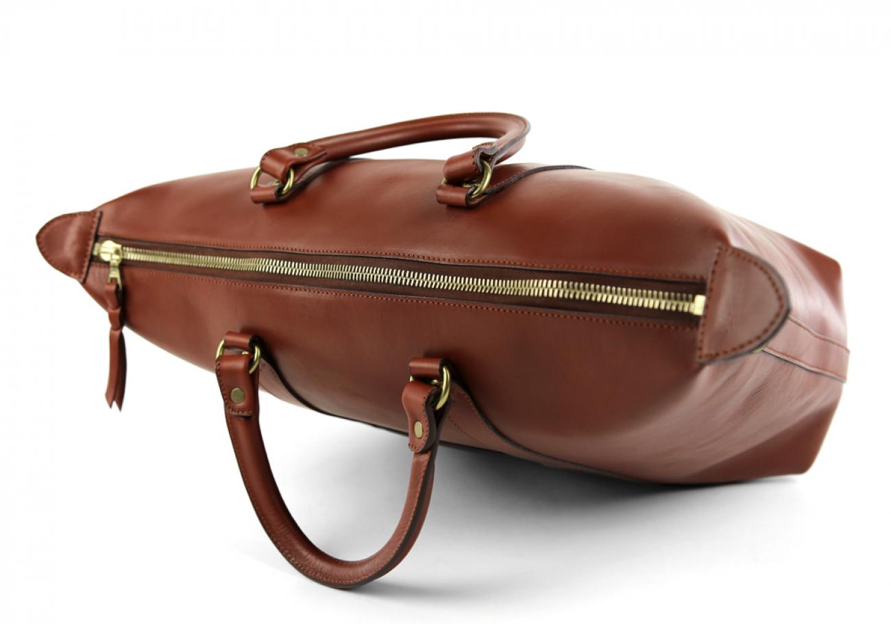 Chestnut Zipper Tote Bag 6 1