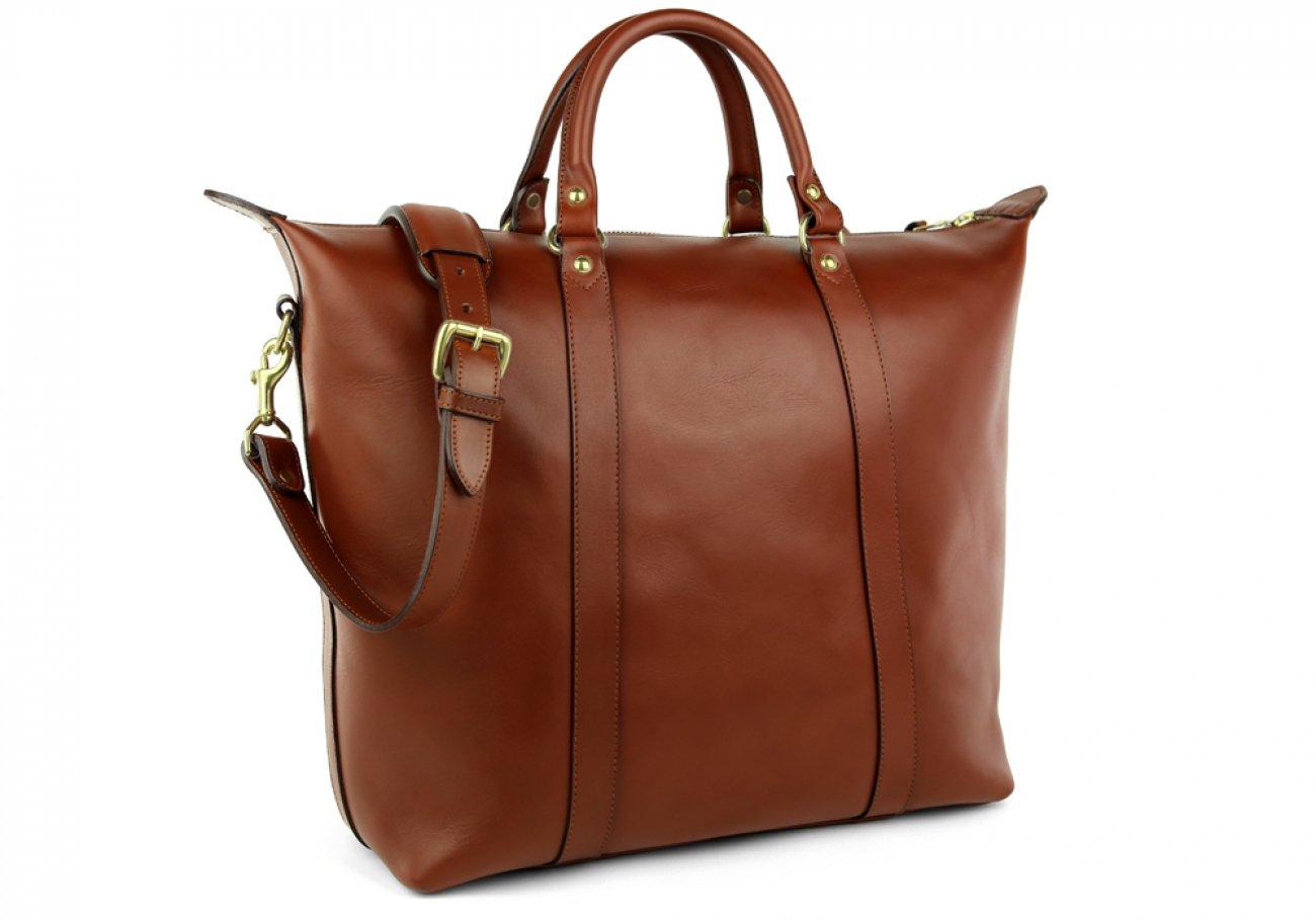 Chestnut Zipper Tote Bag 8