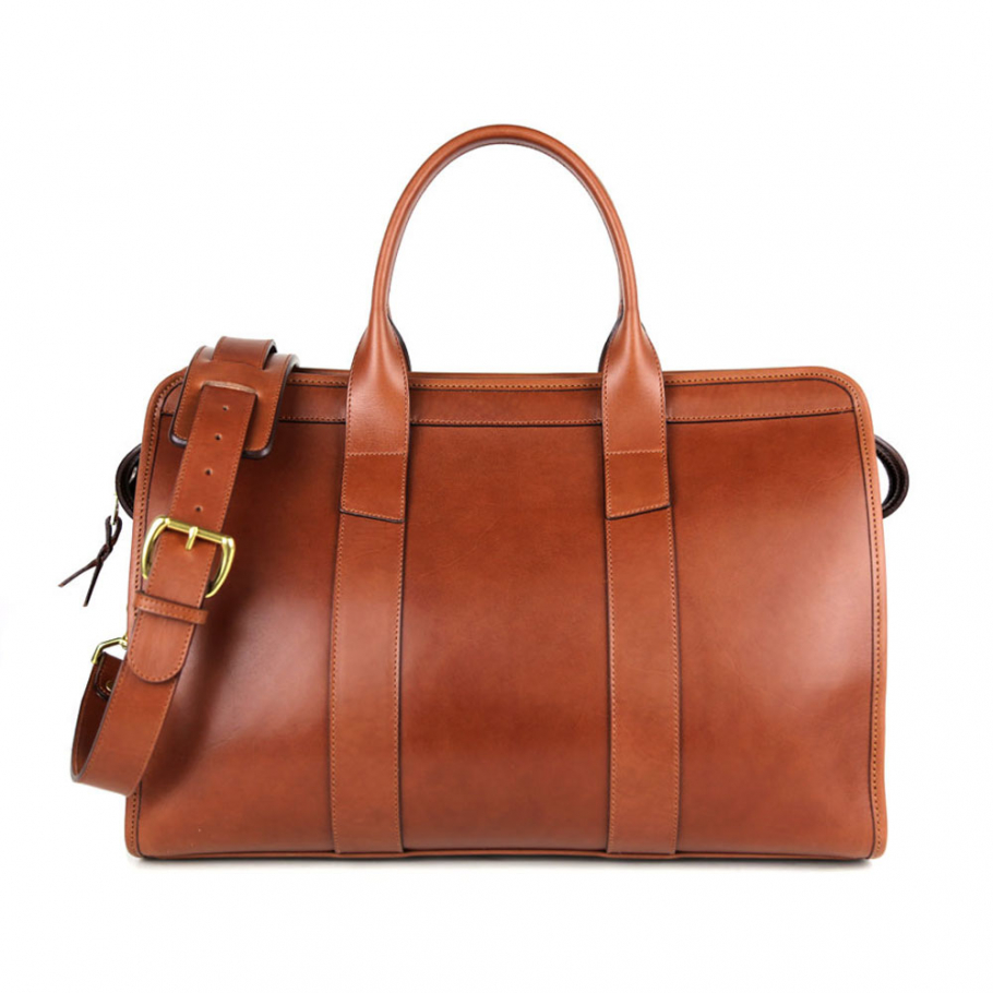 Chestnut Belting Leather Small Duffle Frank Clegg Made In Usa 1 Raw