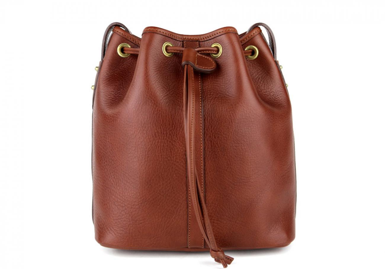 Chestnut Cara Draw String Bag Frank Clegg Made In Usa 2