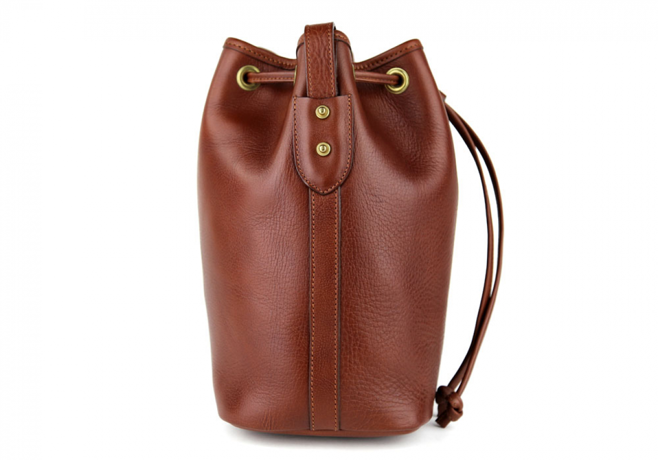 Chestnut Cara Draw String Bag Frank Clegg Made In Usa 4