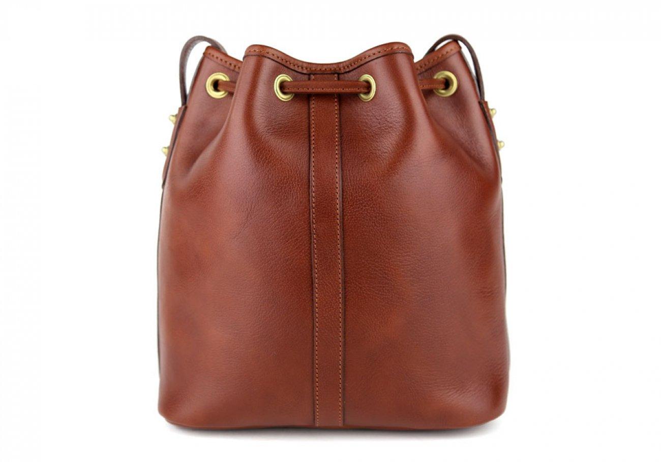 Chestnut Cara Draw String Bag Frank Clegg Made In Usa 5