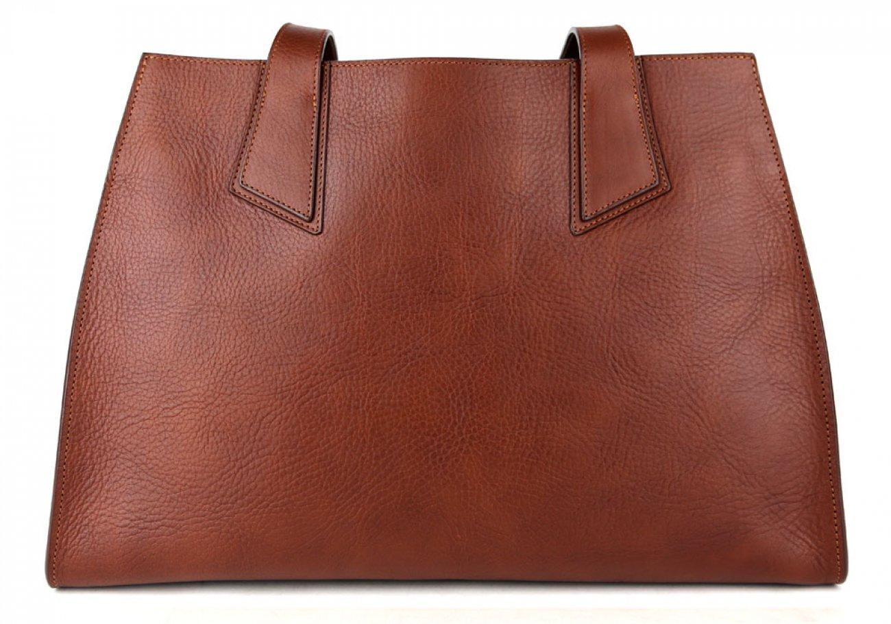 Chestnut Elle Tote Bag Frank Clegg Made In Usa 1