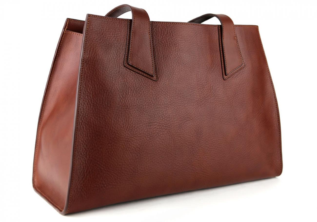 Chestnut Elle Tote Bag Frank Clegg Made In Usa 2