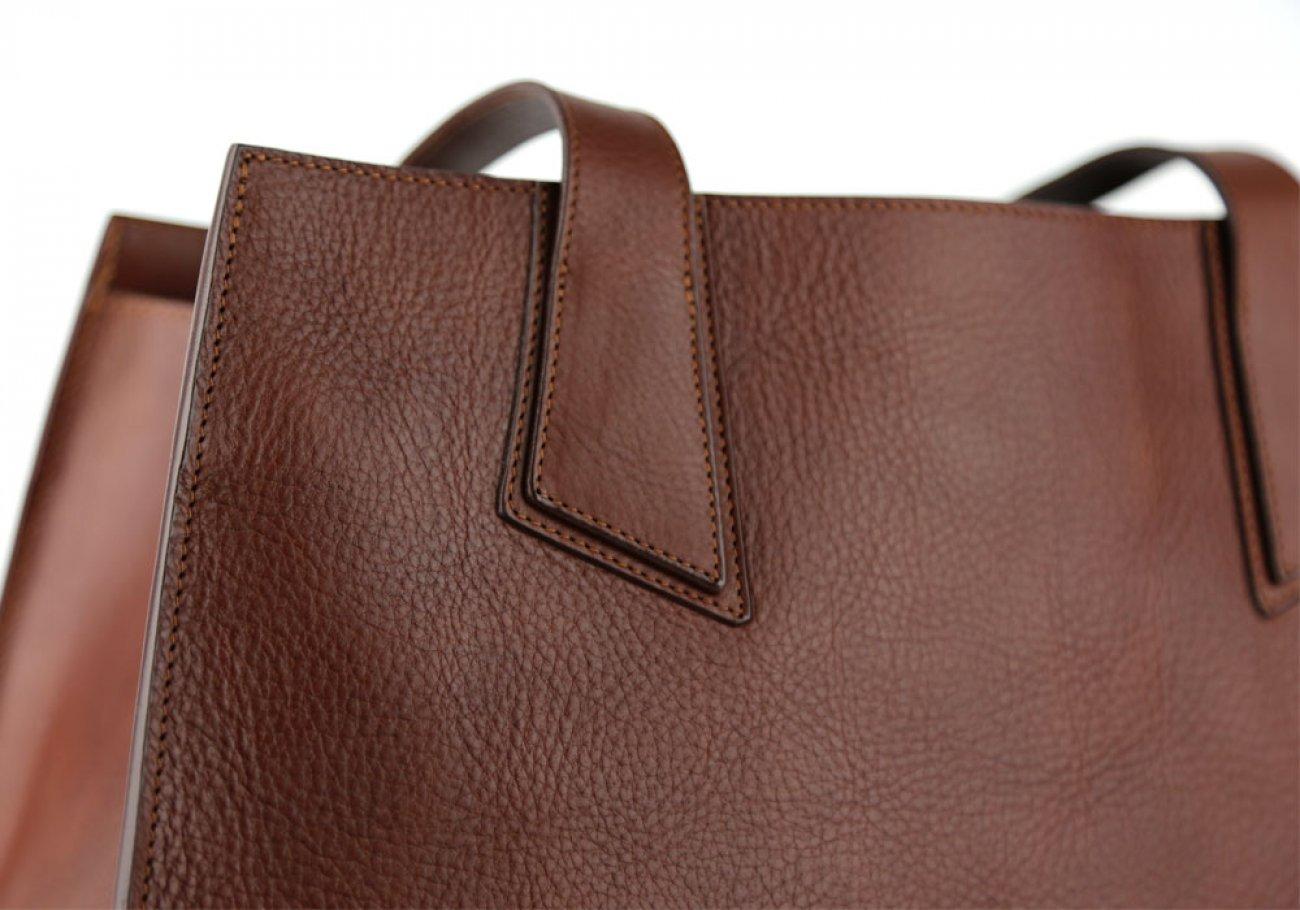 Chestnut Elle Tote Bag Frank Clegg Made In Usa 5