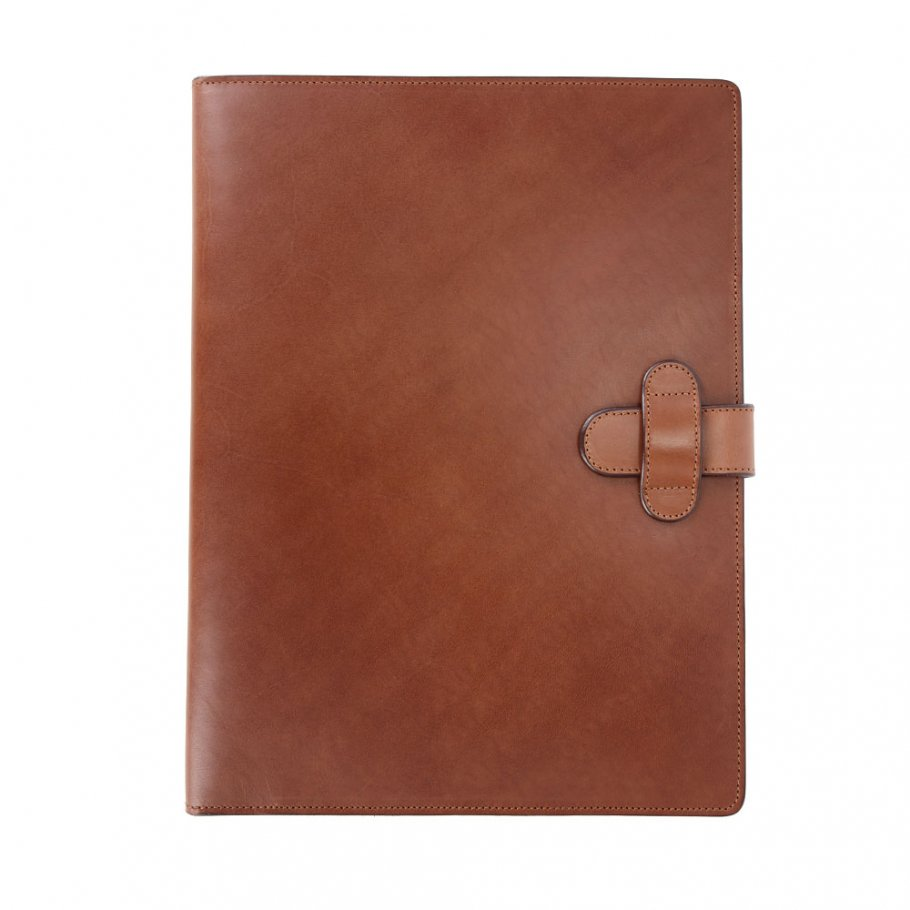 Chestnut Harness Belting Leather Note Pad Frank Clegg Made In Usa 1