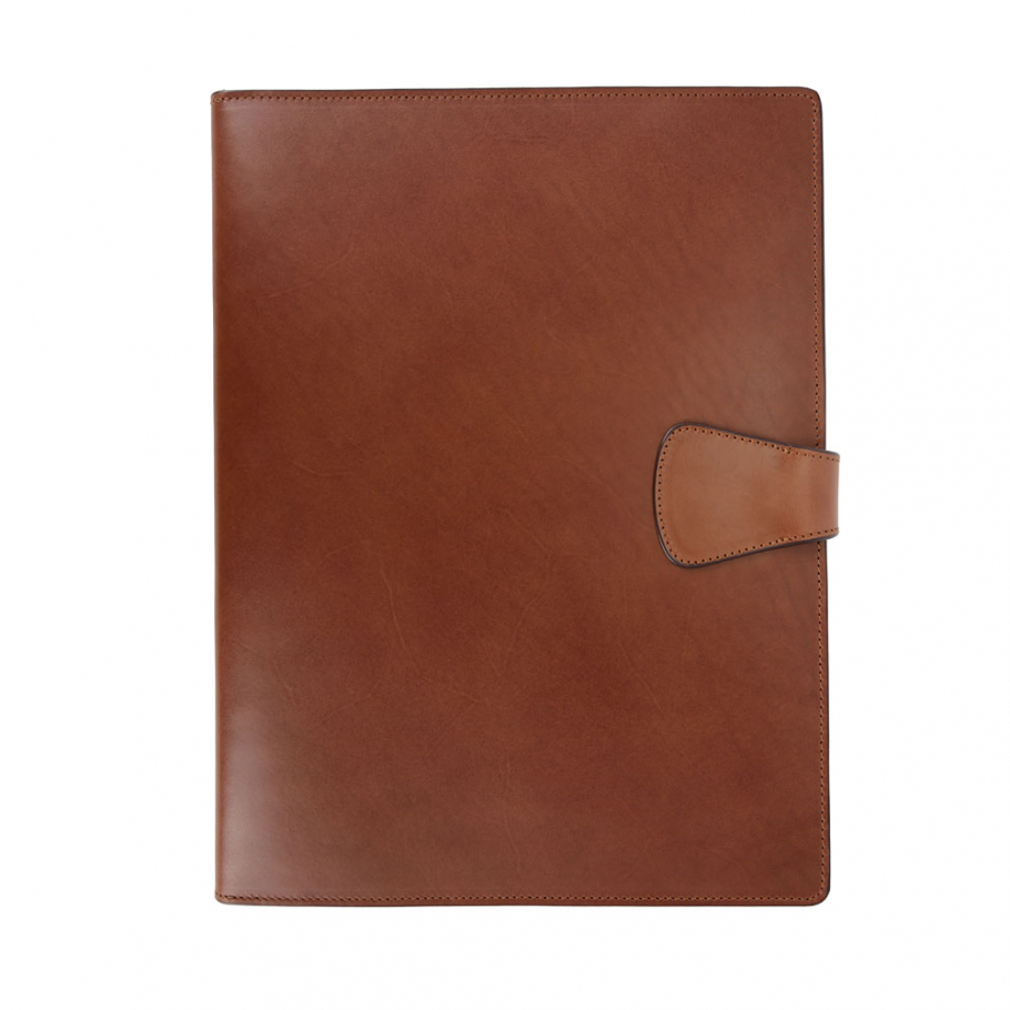 Chestnut Harness Belting Leather Note Pad Frank Clegg Made In Usa 2