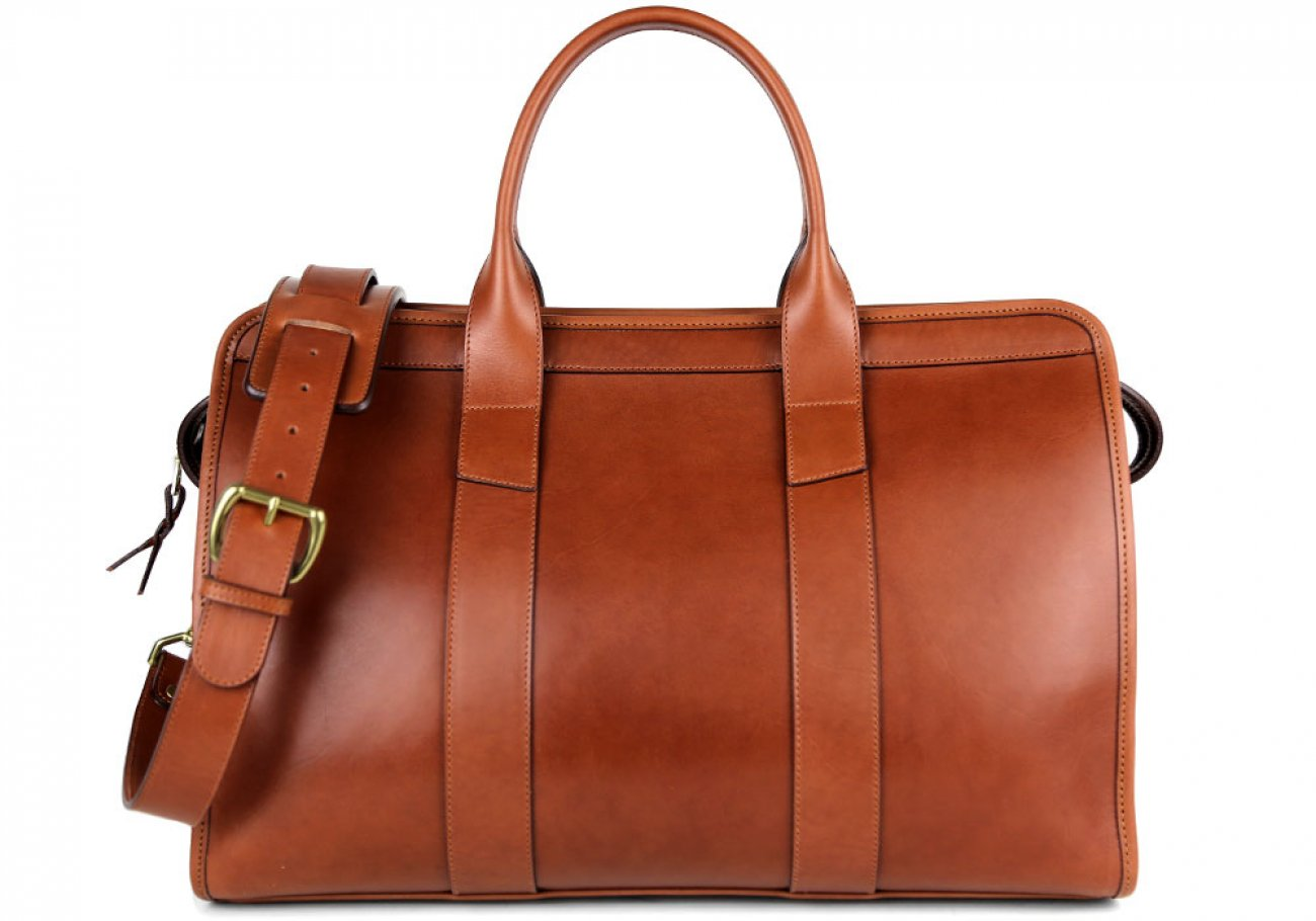Chestnut Harness Belting Leather Small Duffle Frank Clegg Made In Usa 1 3
