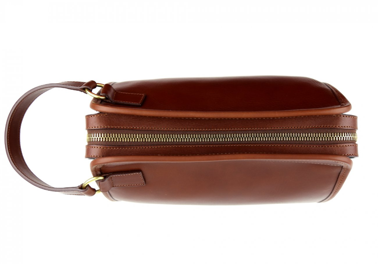 Chestnut Large Tumbled Leather Travel Kit Frank Clegg Made In Usa 11
