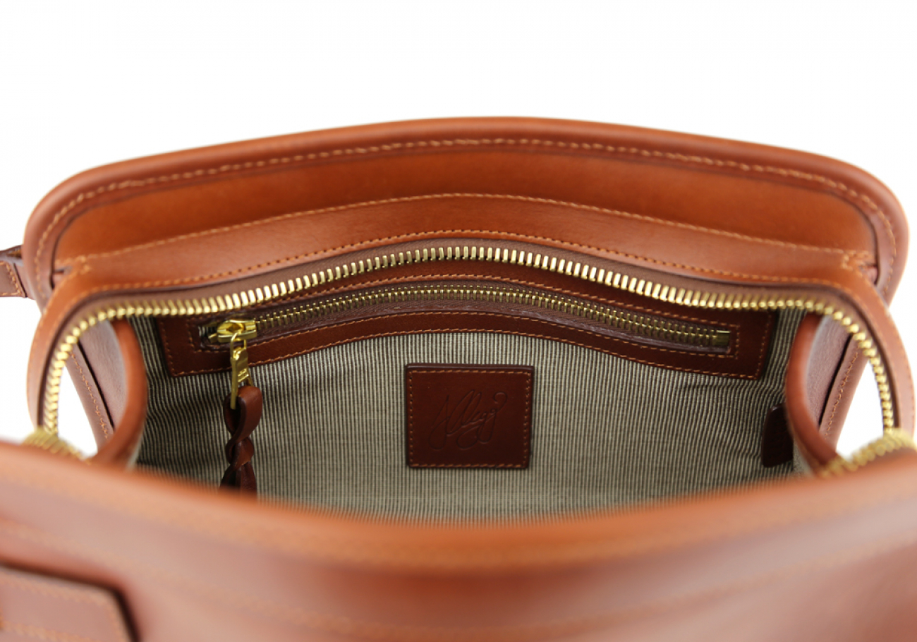 Chestnut Large Tumbled Leather Travel Kit Frank Clegg Made In Usa 6 1 1