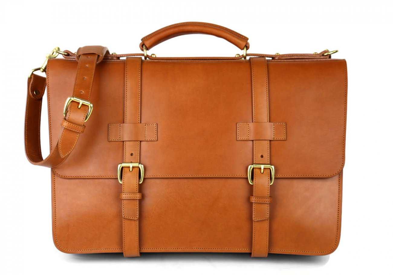 Chestnut Leather American Briefcase Frank Clegg Made In Usa 1 1