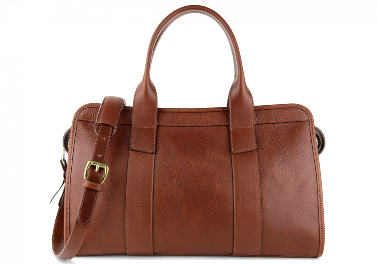 Chestnut Leather Signature Satchel Frank Clegg Made In Usa 1