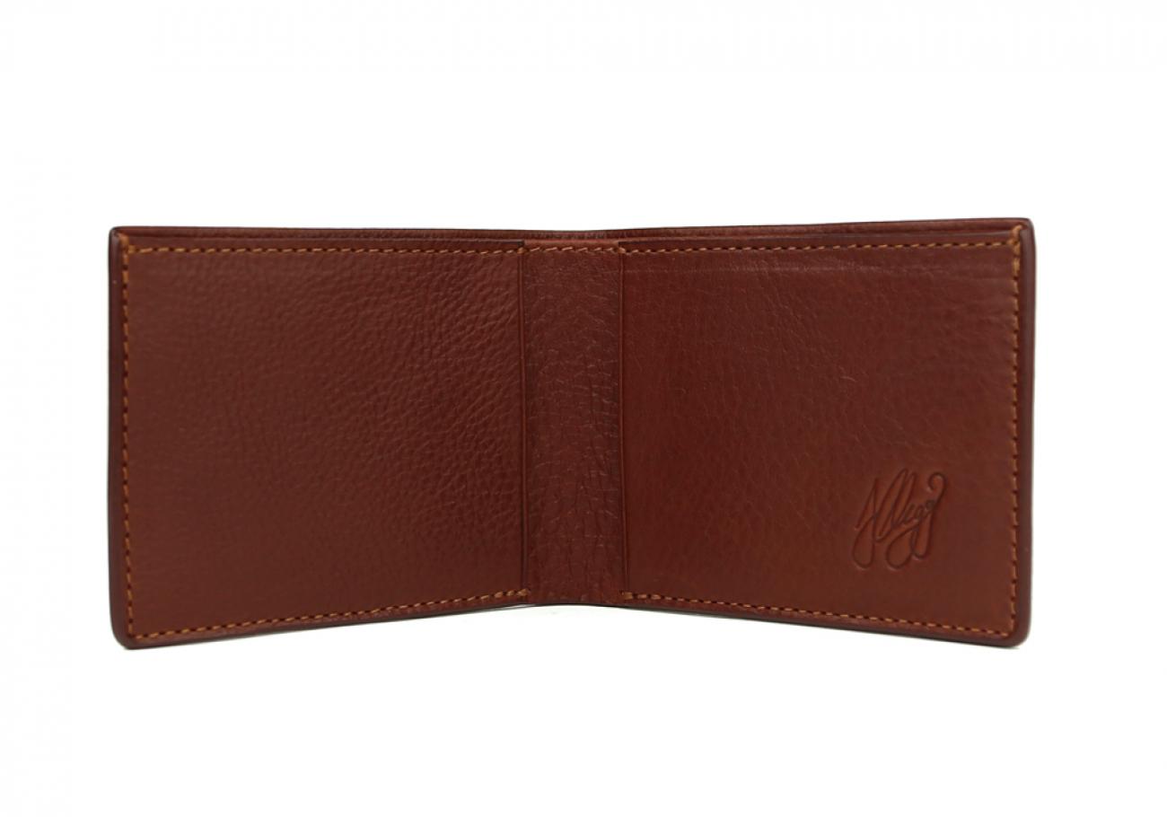 Chestnut Leather Slim Wallet  Frank Clegg Made In Usa 2 1