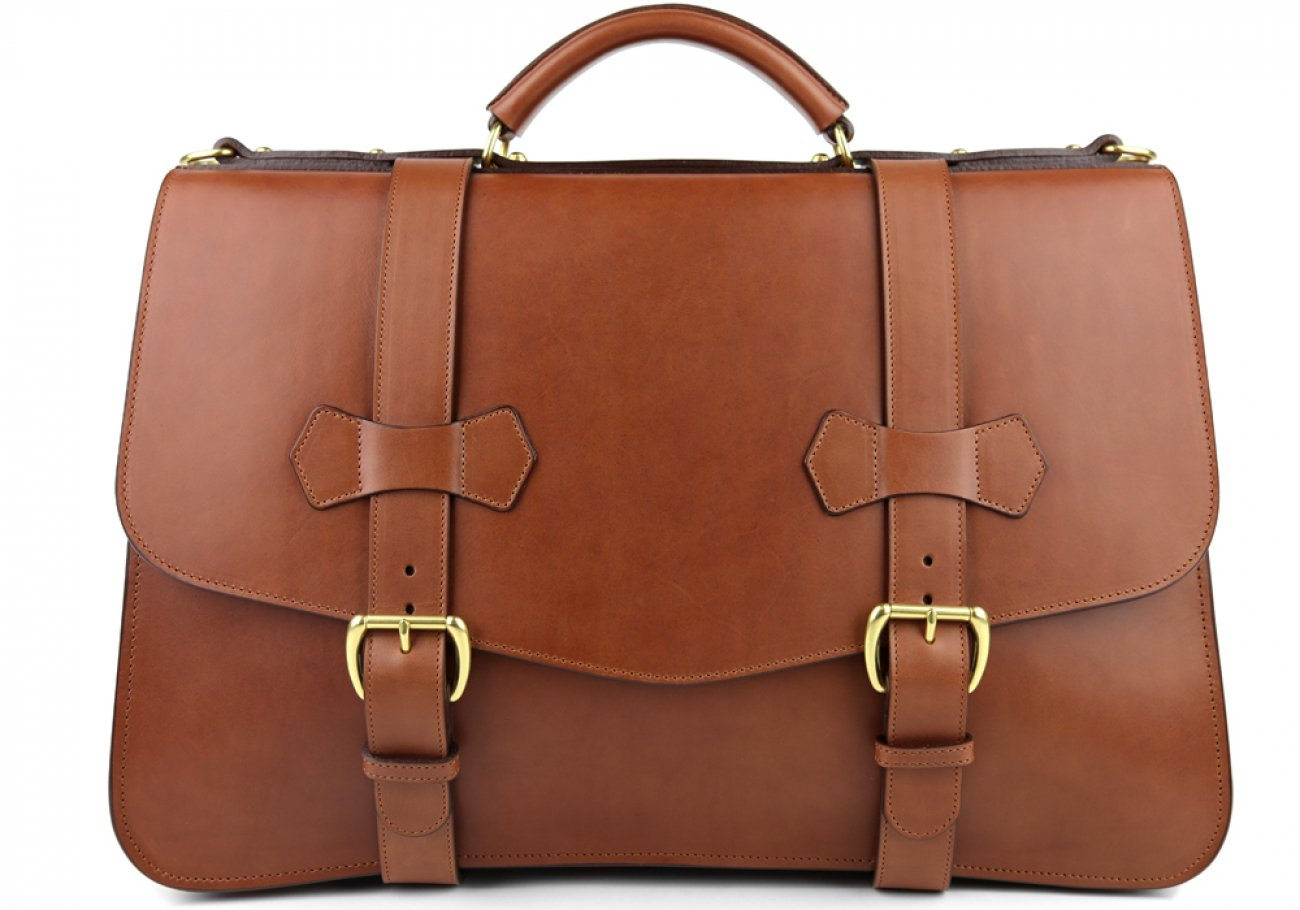 Chestnut Leather Small Lawyers Briefcase Frank Clegg Made In Usa 2
