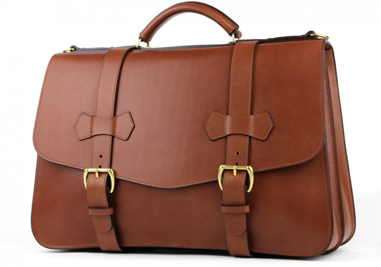 Chestnut Leather Small Lawyers Briefcase Frank Clegg Made In Usa 5