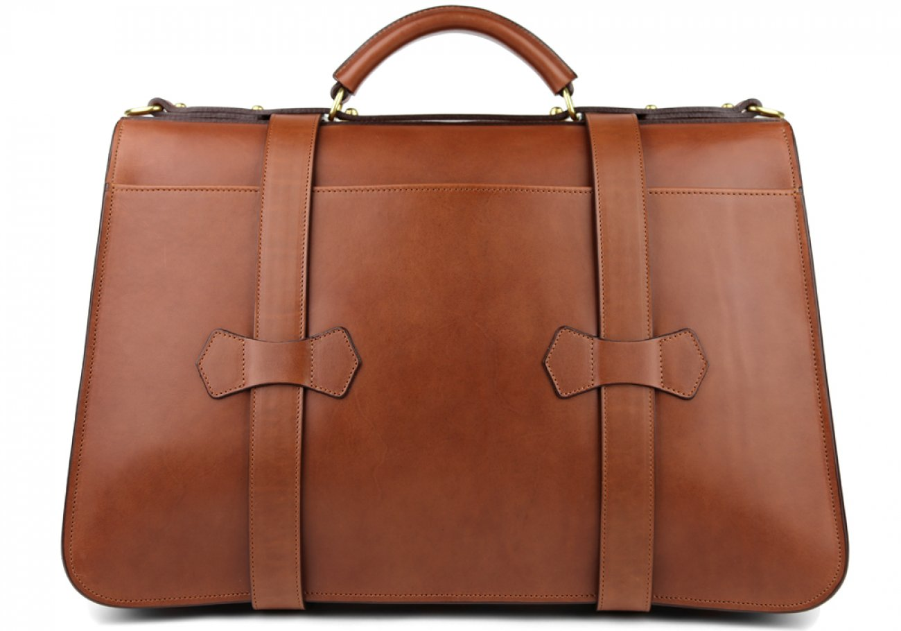 Chestnut Leather Small Lawyers Briefcase Frank Clegg Made In Usa 7