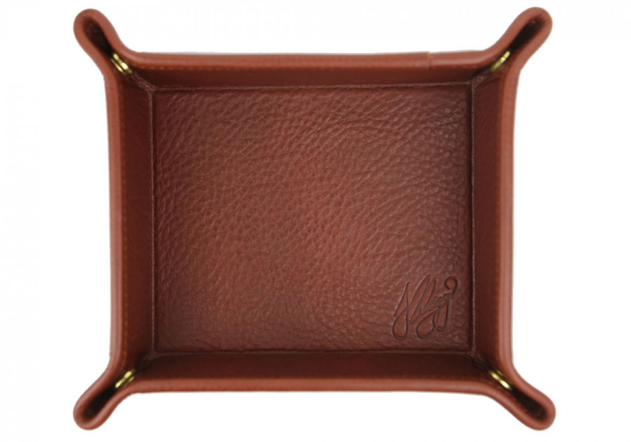 Chestnut Leather Valet Key Tray Frank Clegg Made In Usa 1
