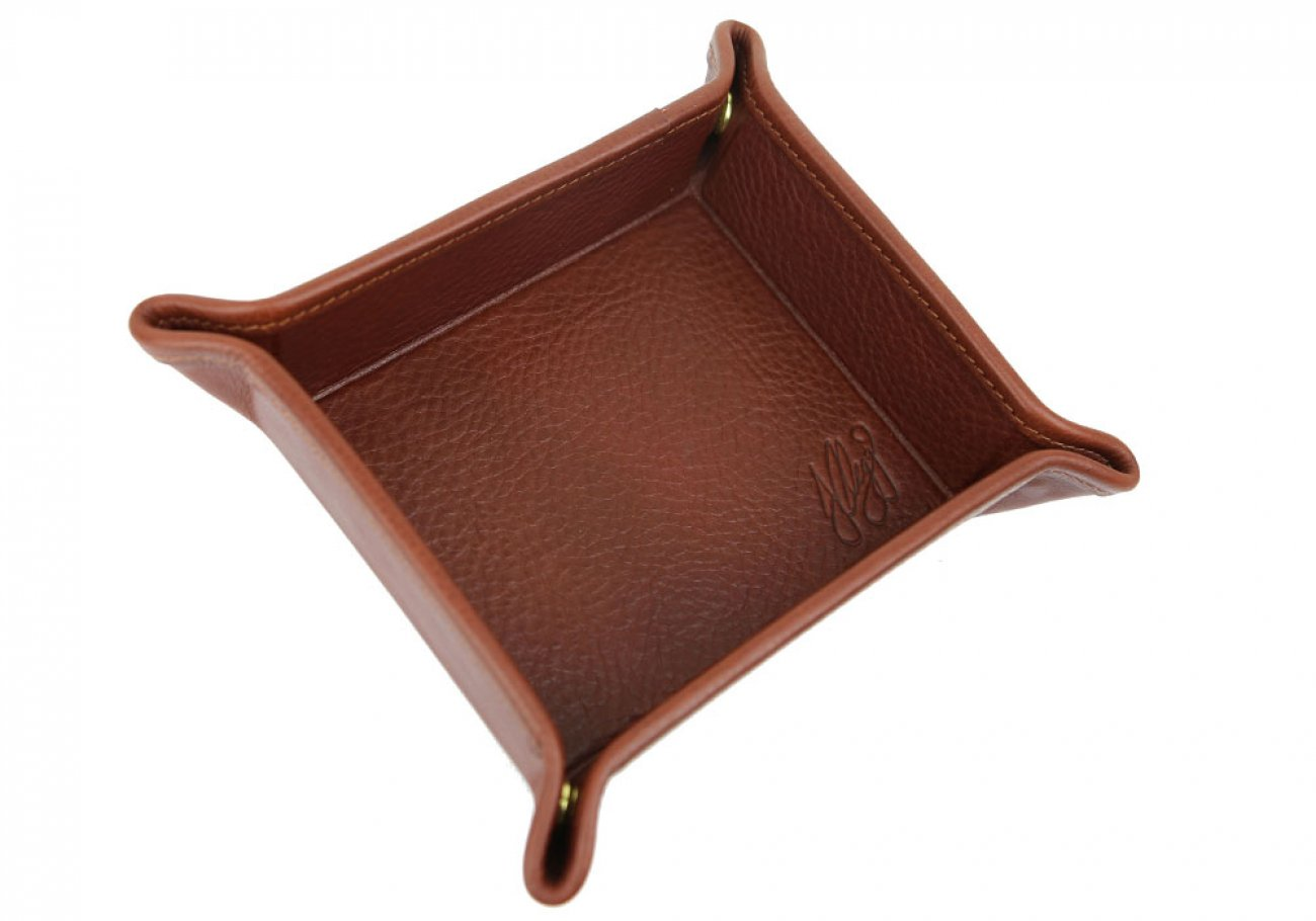 Chestnut Leather Valet Key Tray Frank Clegg Made In Usa 2
