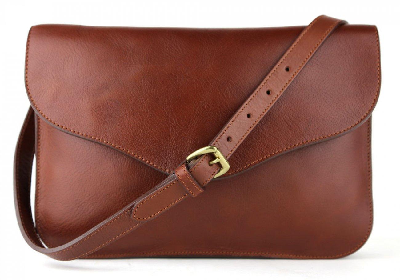 Chestnut Maddie Shoulder Bag Frank Clegg Made In Usa 1