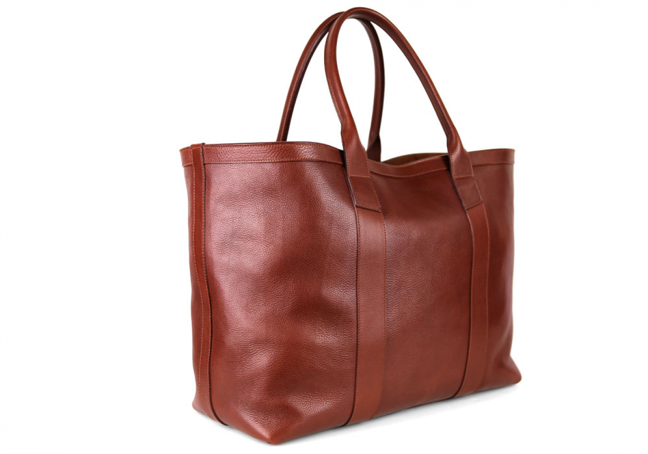 Chestnut Signature Working Tote Made In Usa Frank Clegg 2 1
