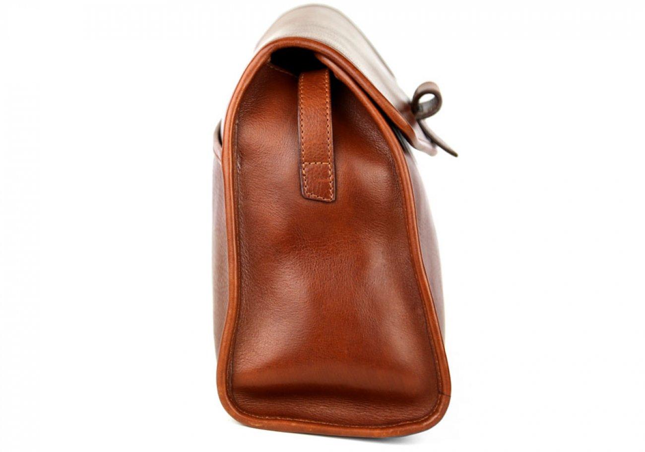 Chestnut Tumbled Leather Tuscany Shoulder Bag Frank Clegg Made In Usa 3