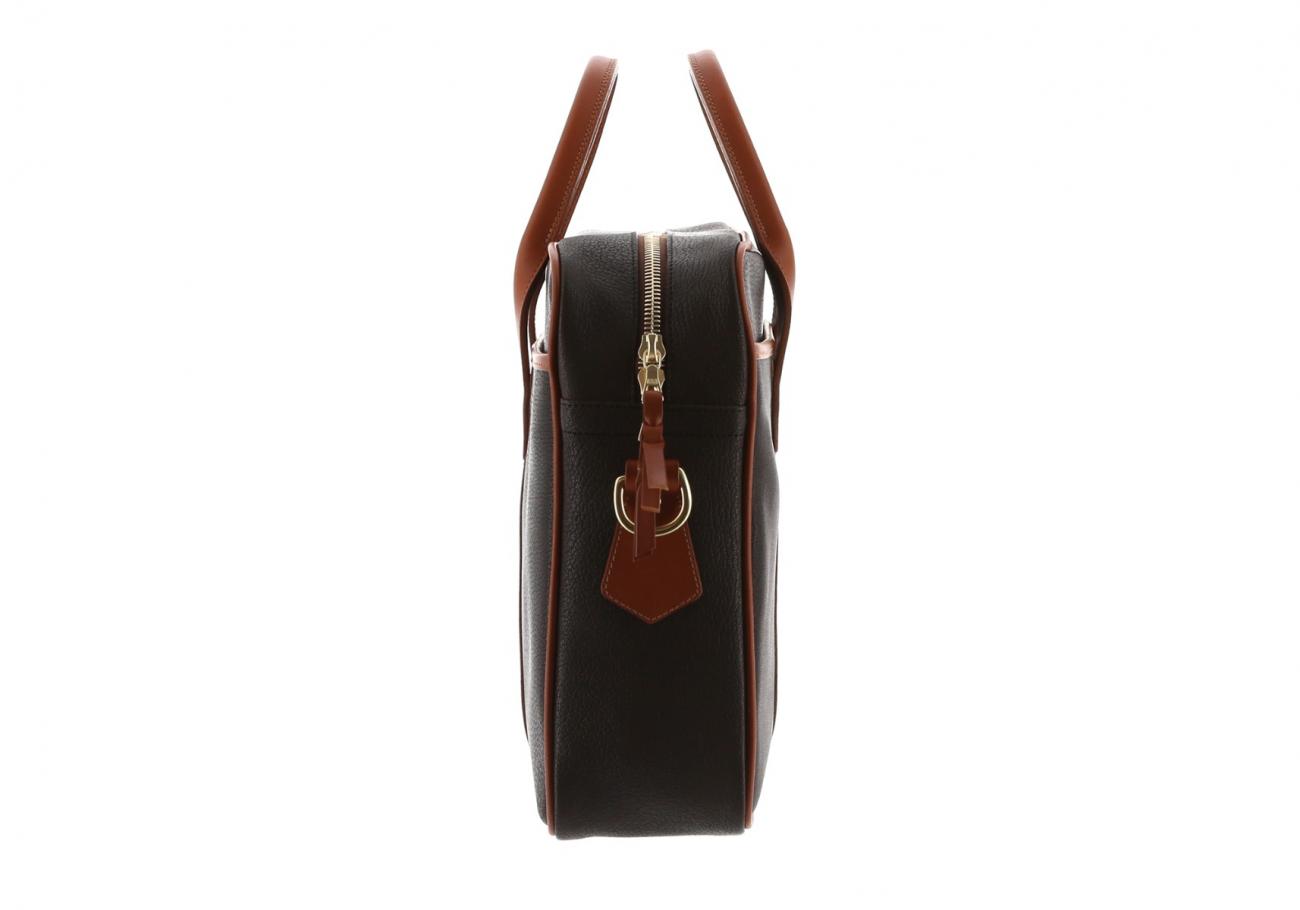 Chevre Goatskin Commuter Briefcase Dark Brown 5