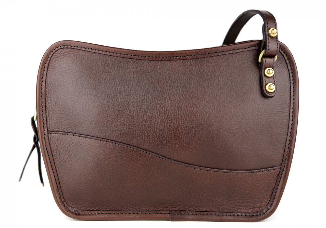 Chocolate Lilly Shoulder Bag Frank Clegg Made In Usa 1