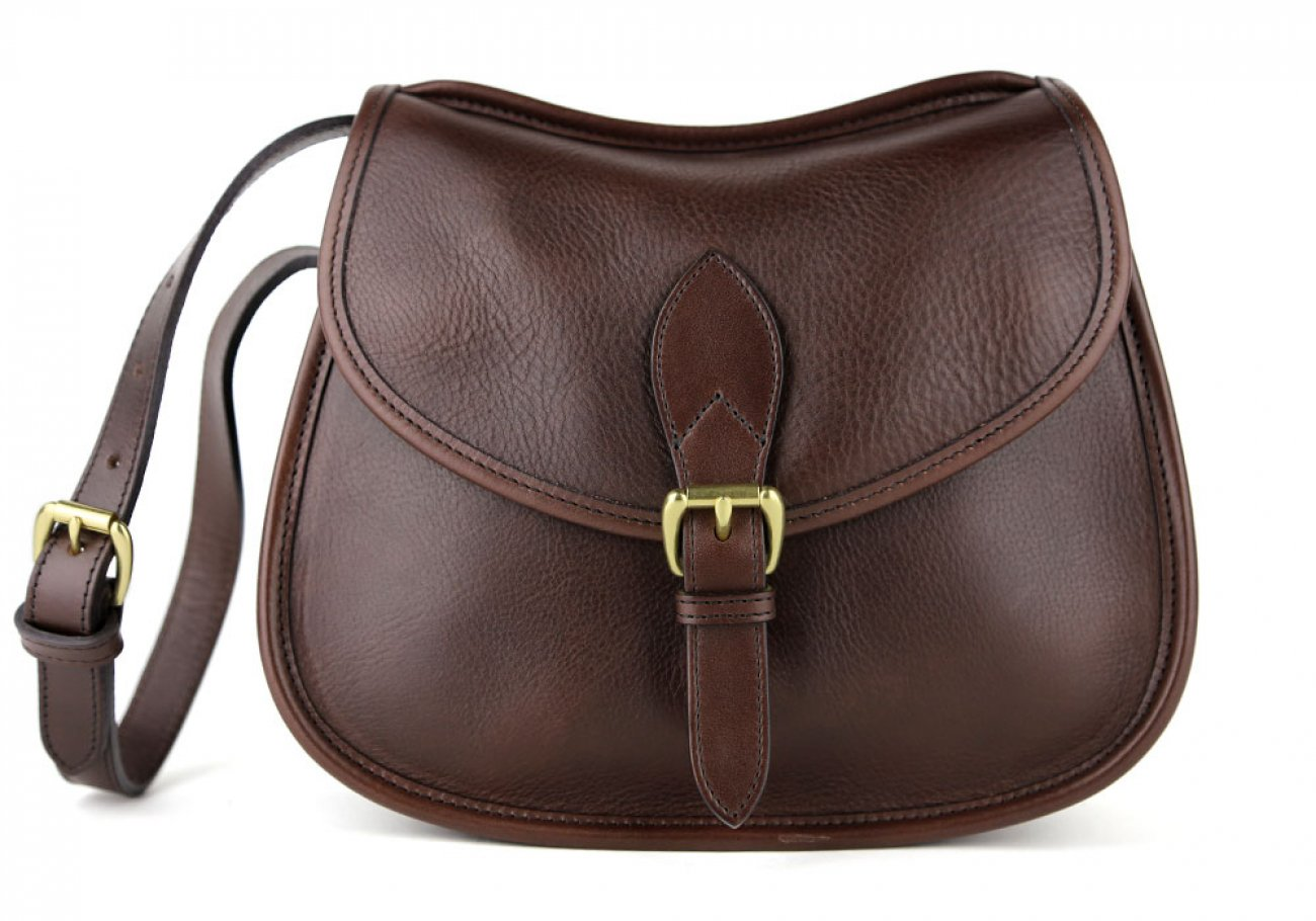 Chocolate Abby Shoulder Bag Frank Clegg Made In Usa 1
