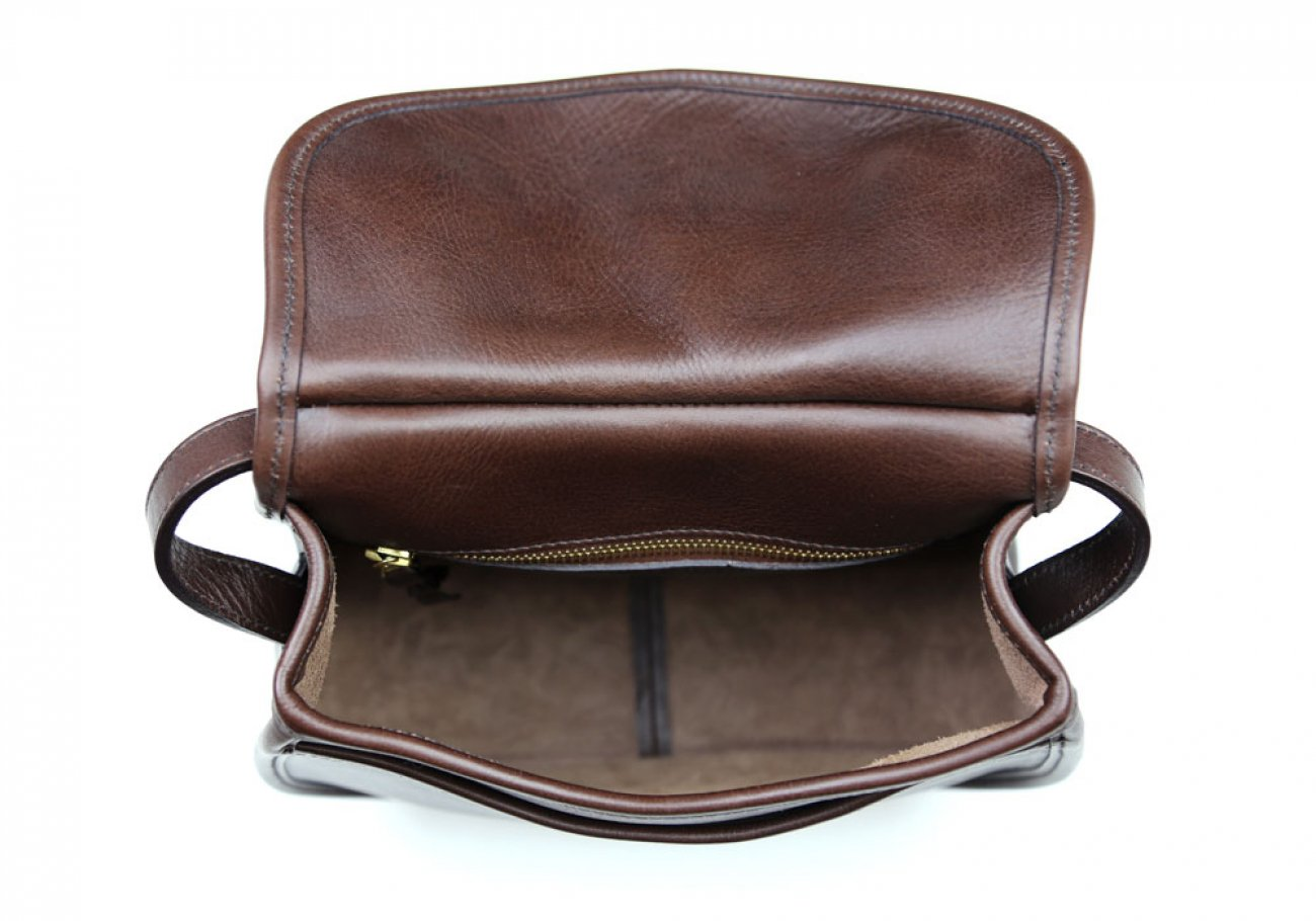 Chocolate Abby Shoulder Bag Frank Clegg Made In Usa 7