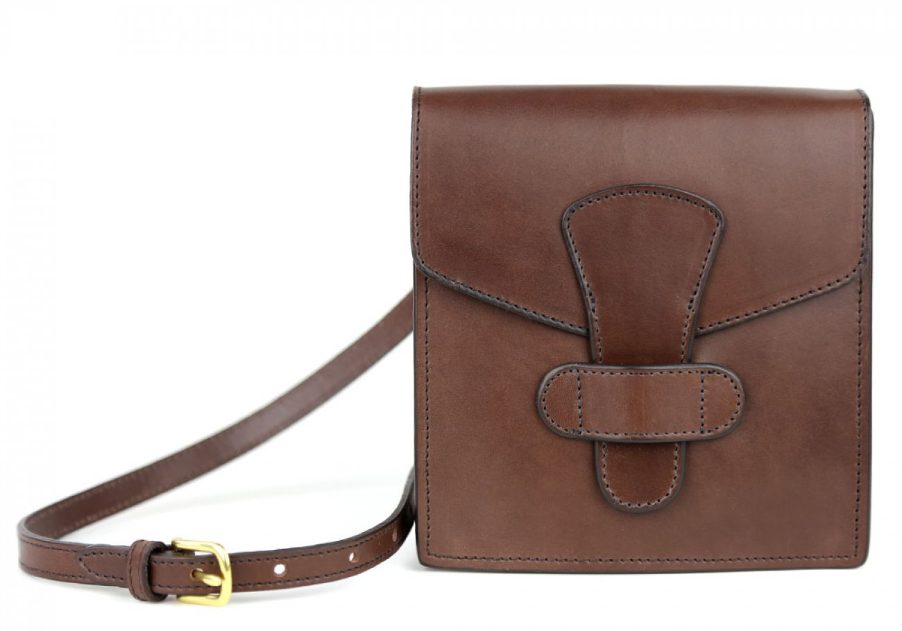 Chocolate Adelie Closure Satchel Frank Clegg Made In Usa 1