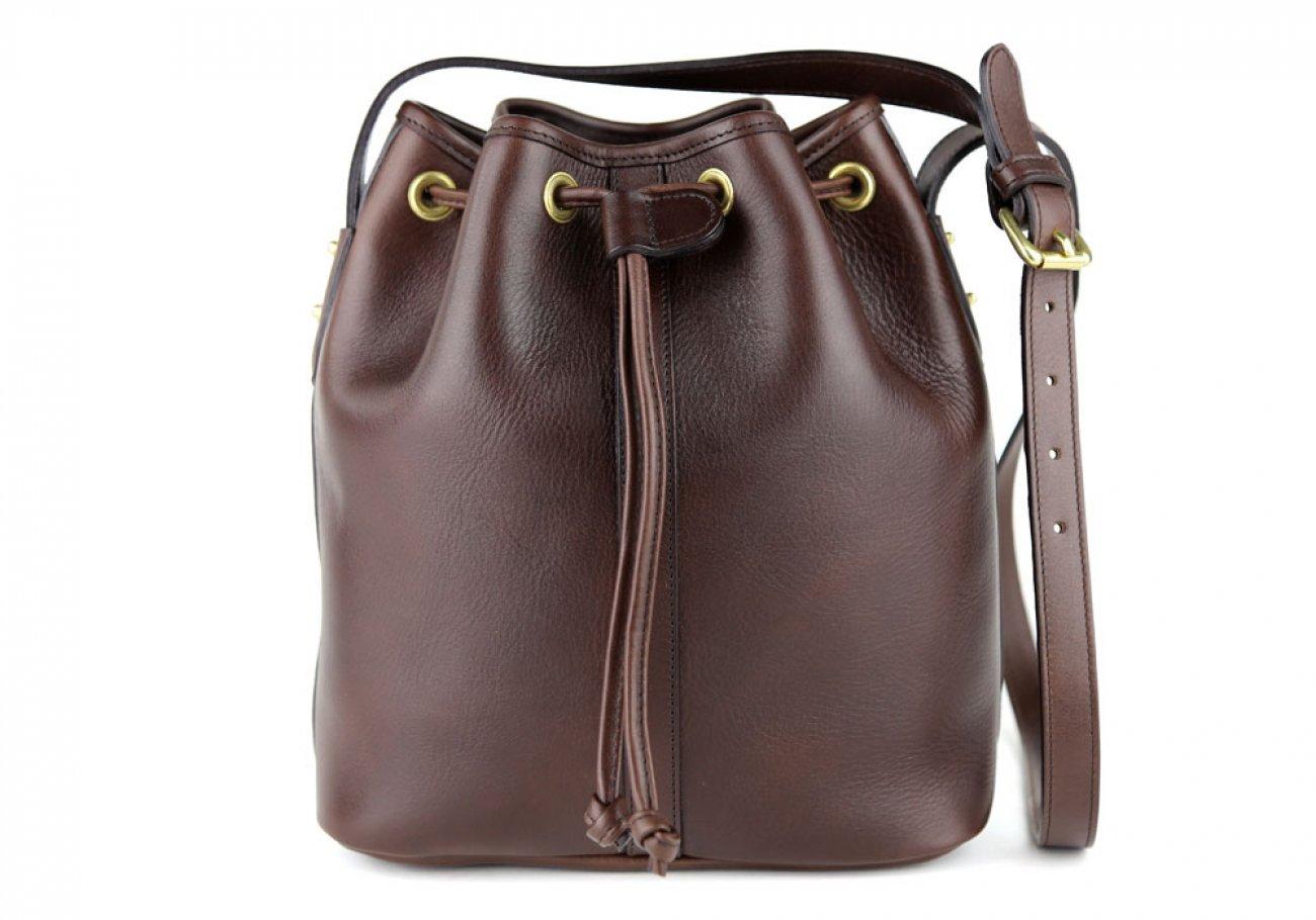 Chocolate Cara Draw String Bag Frank Clegg Made In Usa 1 1