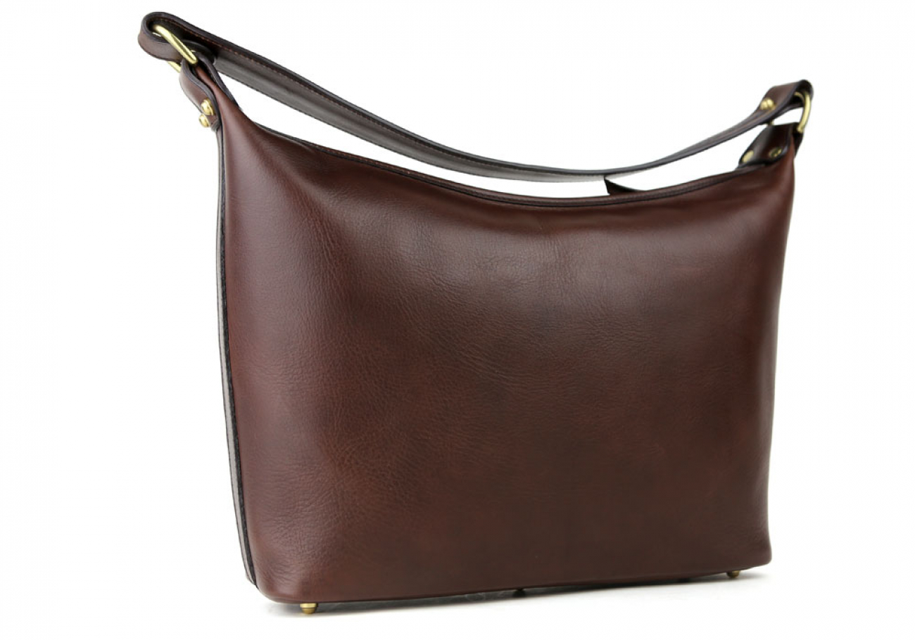 Chocolate Daisy Shoulder Bag Frank Clegg Made In Usa 4