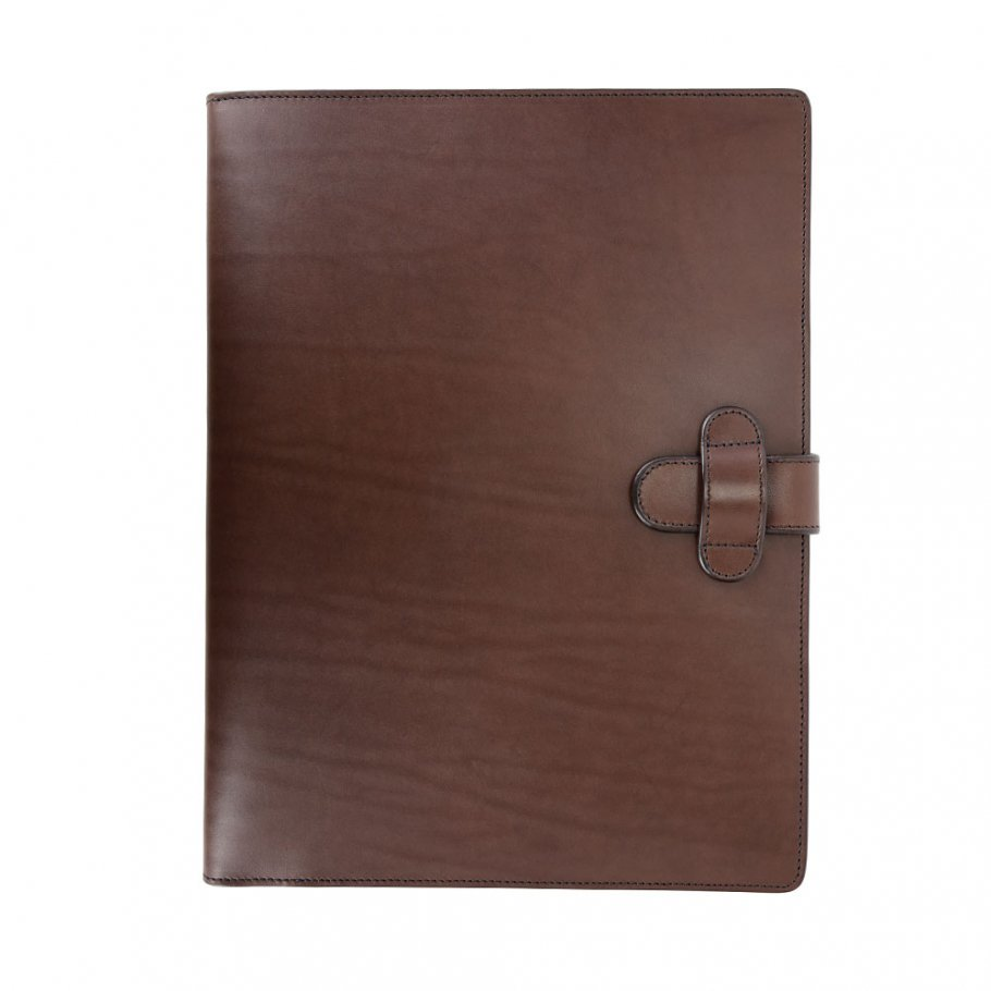 Chocolate Harness Belting Leather Note Pad Frank Clegg Made In Usa 1 1
