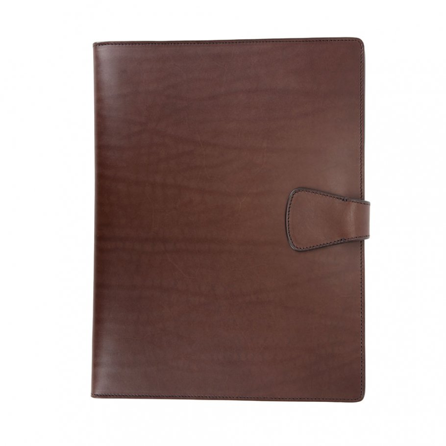 Chocolate Harness Belting Leather Note Pad Frank Clegg Made In Usa 2 1