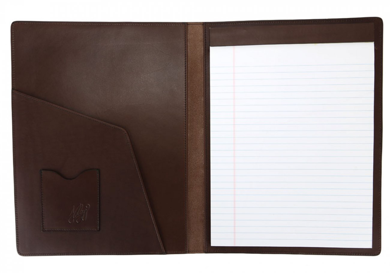 Chocolate Harness Belting Leather Note Pad Frank Clegg Made In Usa 3