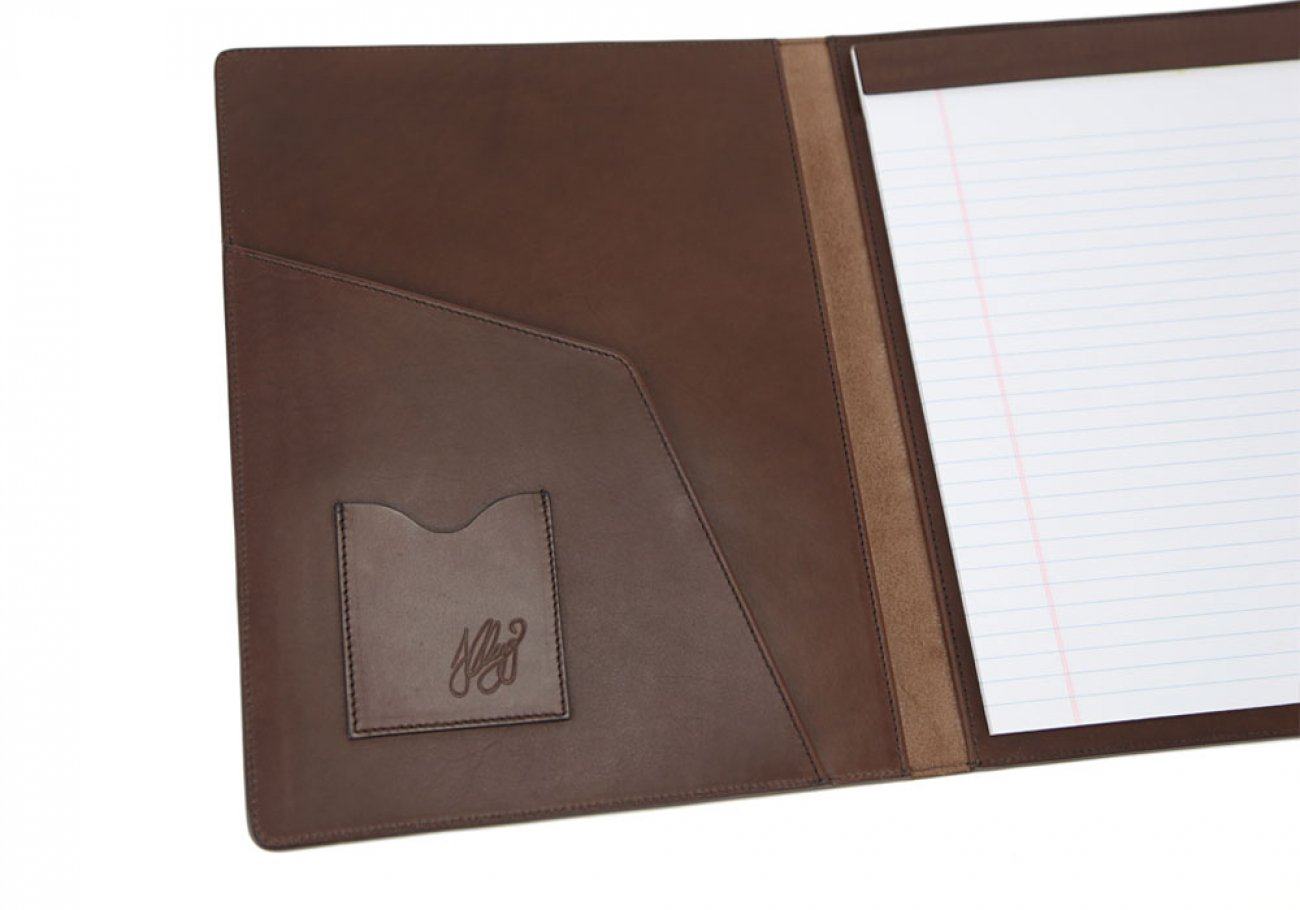 Chocolate Harness Belting Leather Note Pad Frank Clegg Made In Usa 4